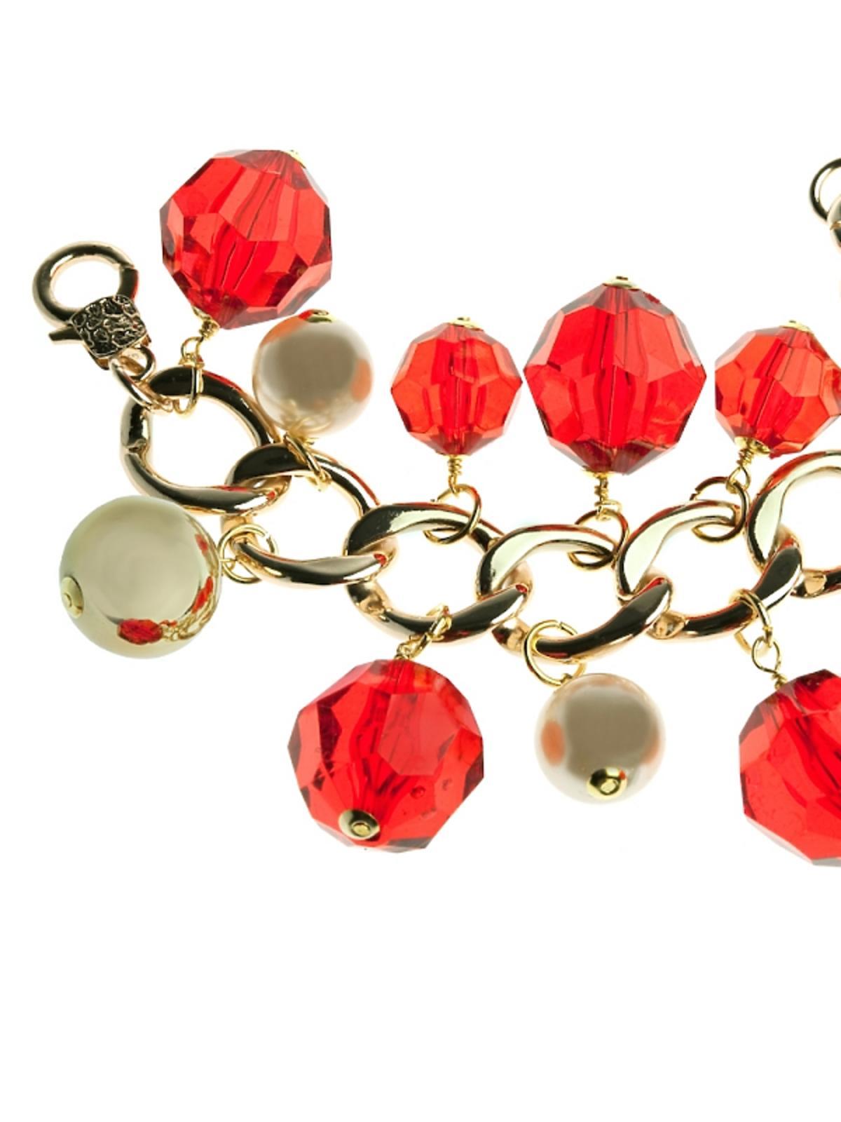 czerwono-złota bransoletka