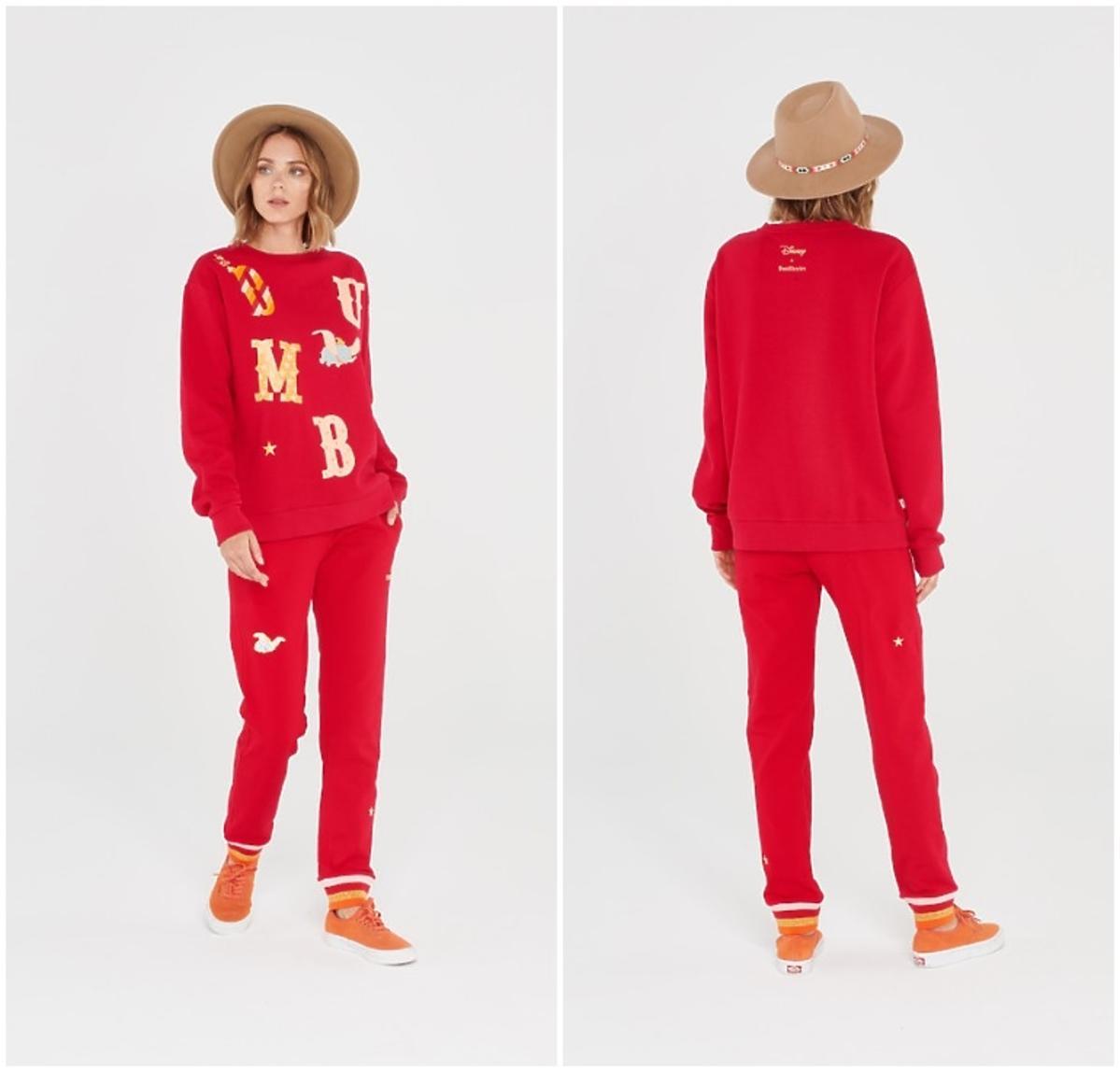 Czerwony dres damski