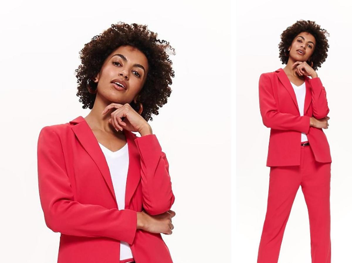 czerwony garnitur z Top Secret
