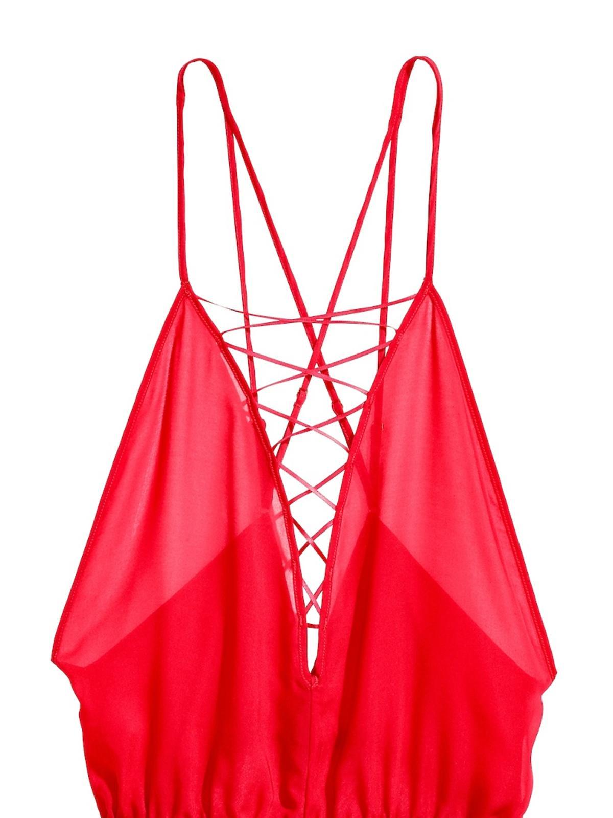 Czerwony kombinezon H&M