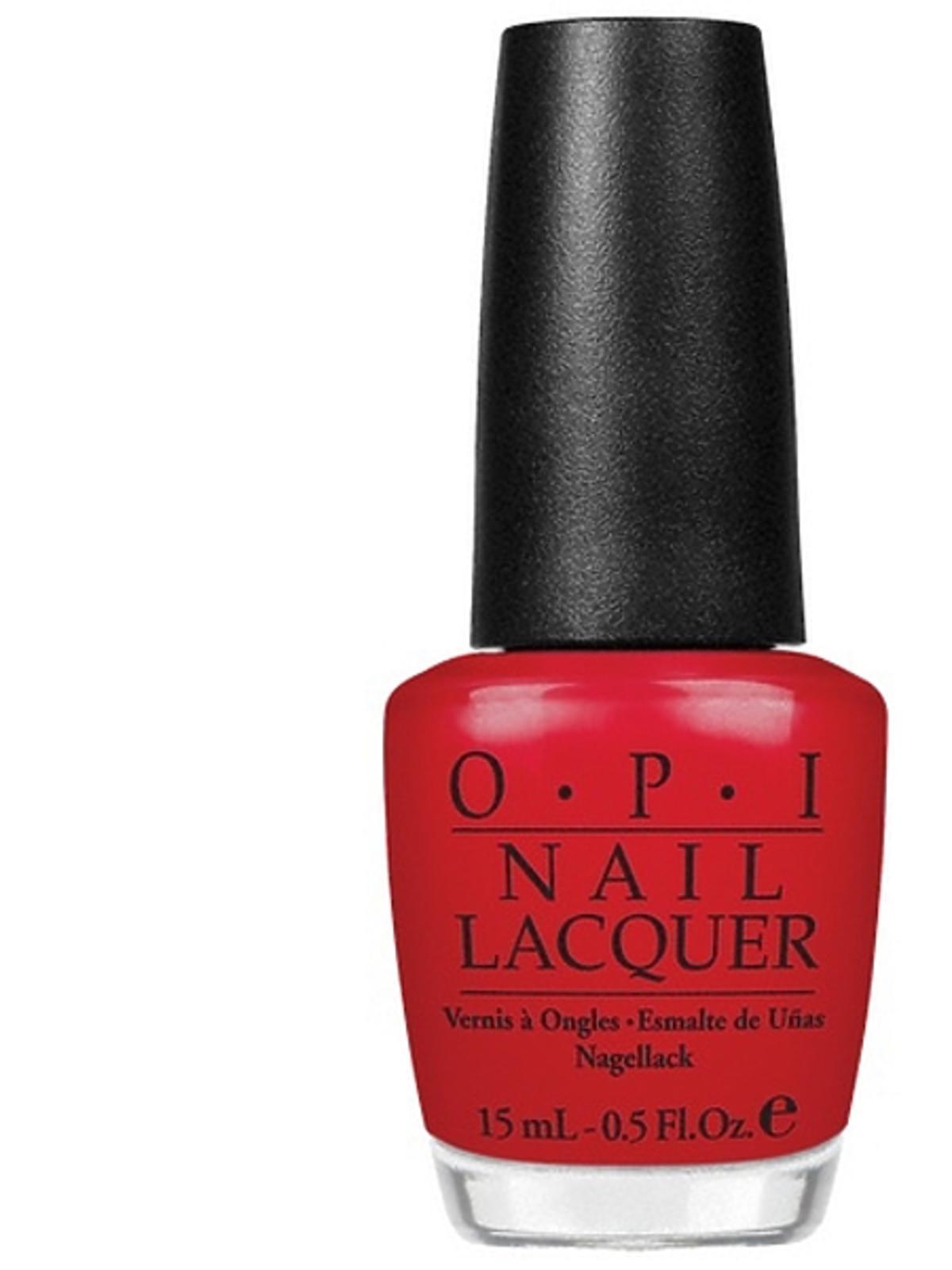 Czerwony lakier do paznokci OPI, cena
