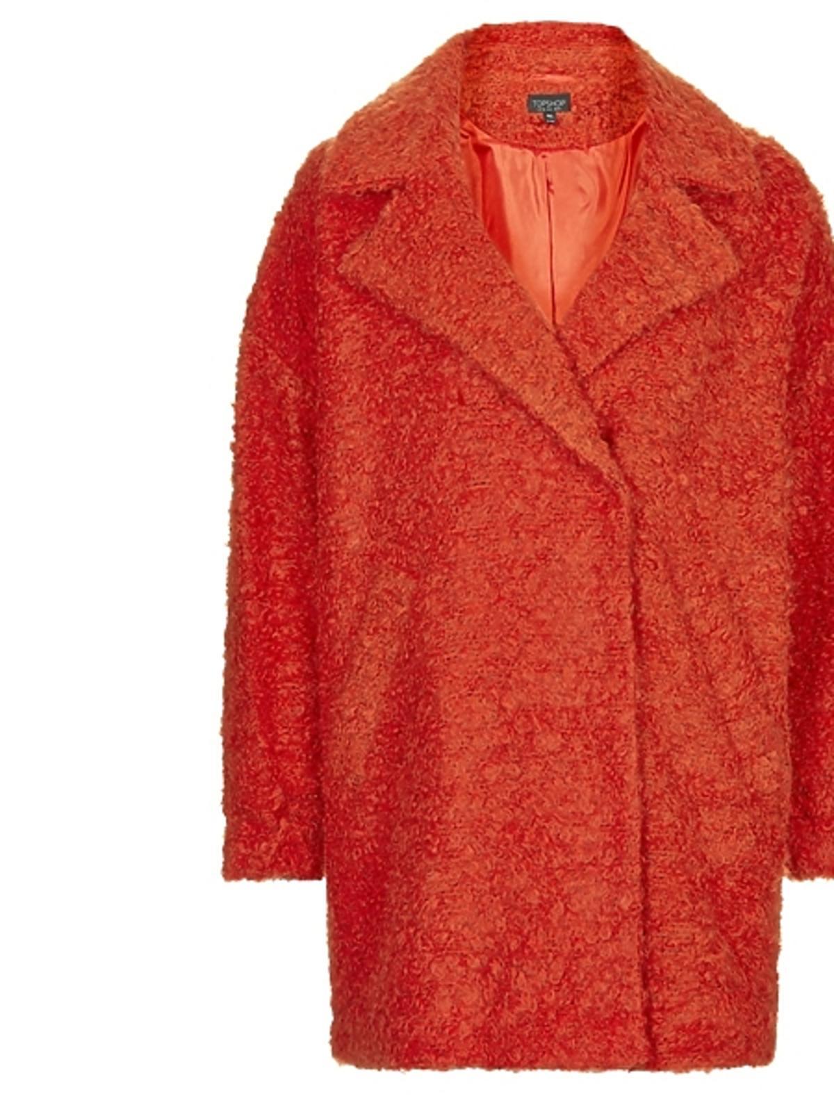 Czerwony płaszcz Topshop, cena