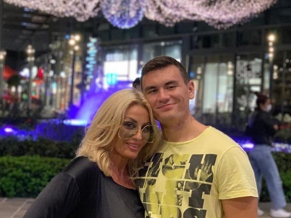 Dagmara Kaźmierska z synem