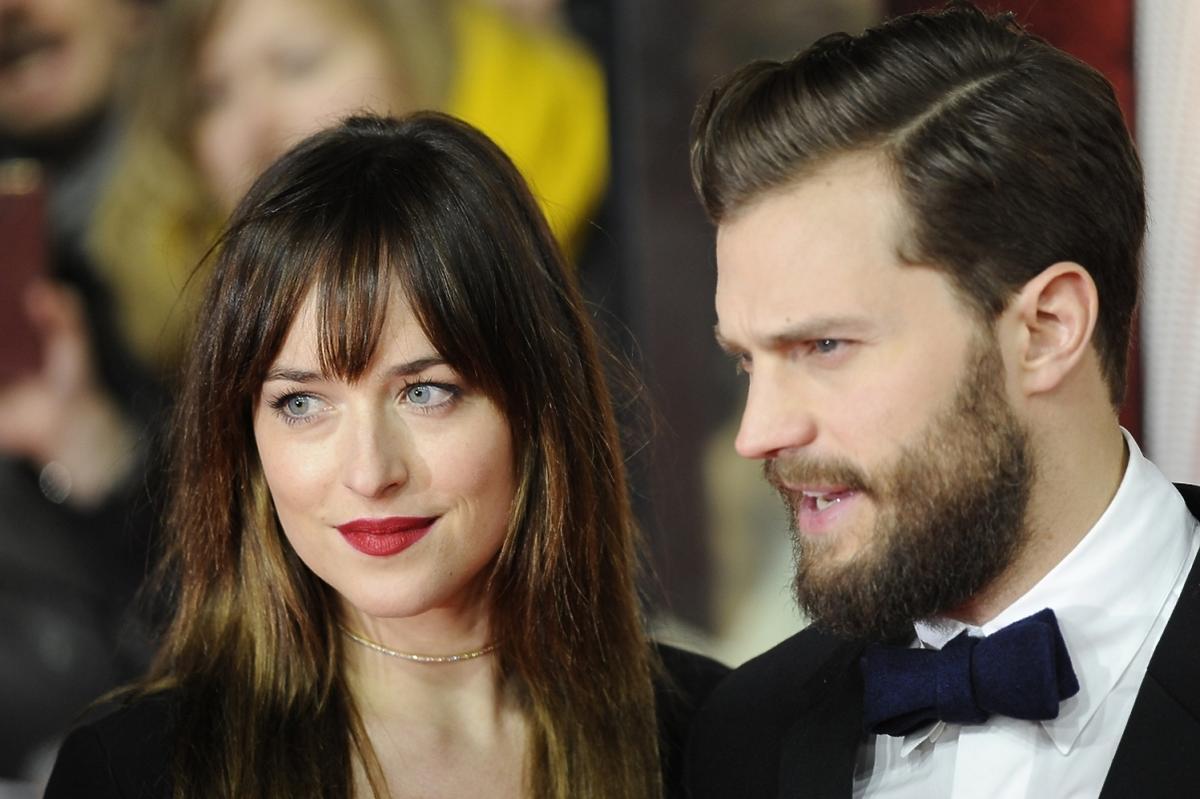 Dakota Johnson i Jamie Dornan na premierze 50 twarzy Greya
