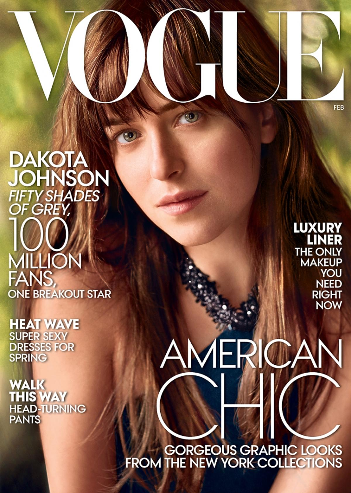 Dakota Johnson na okładce amerykańskiego Vogue'a