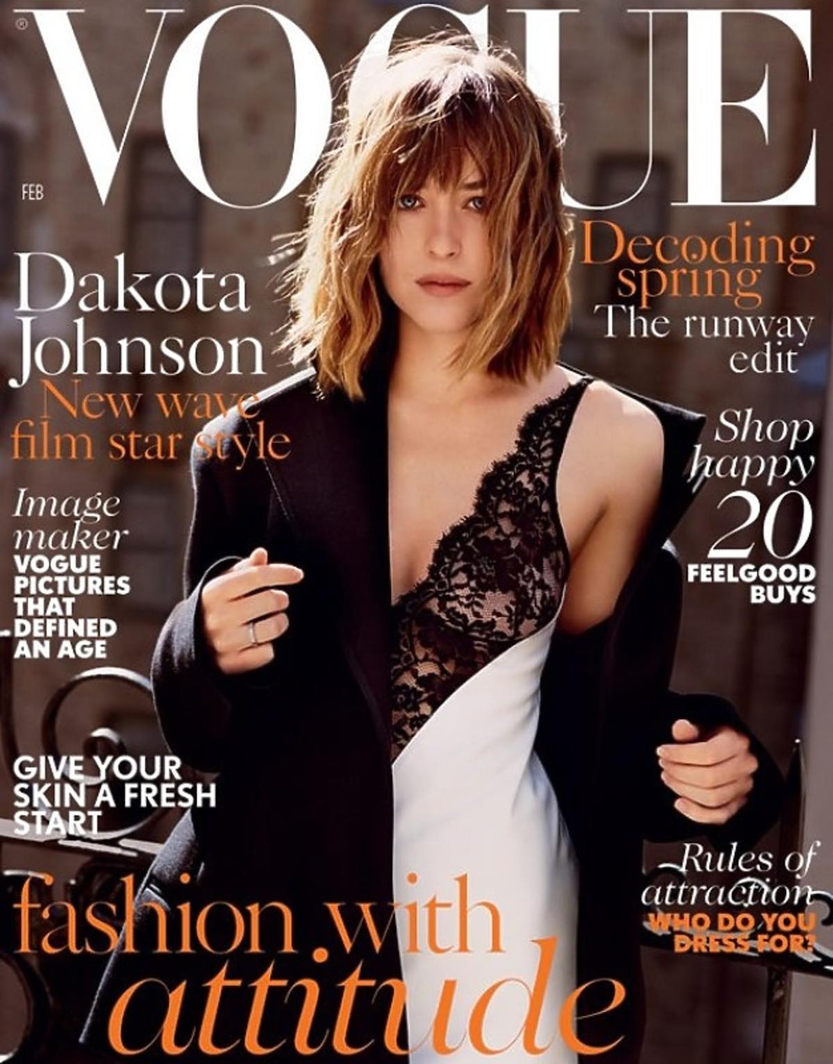 Dakota Johnson na okładce Vogue'a