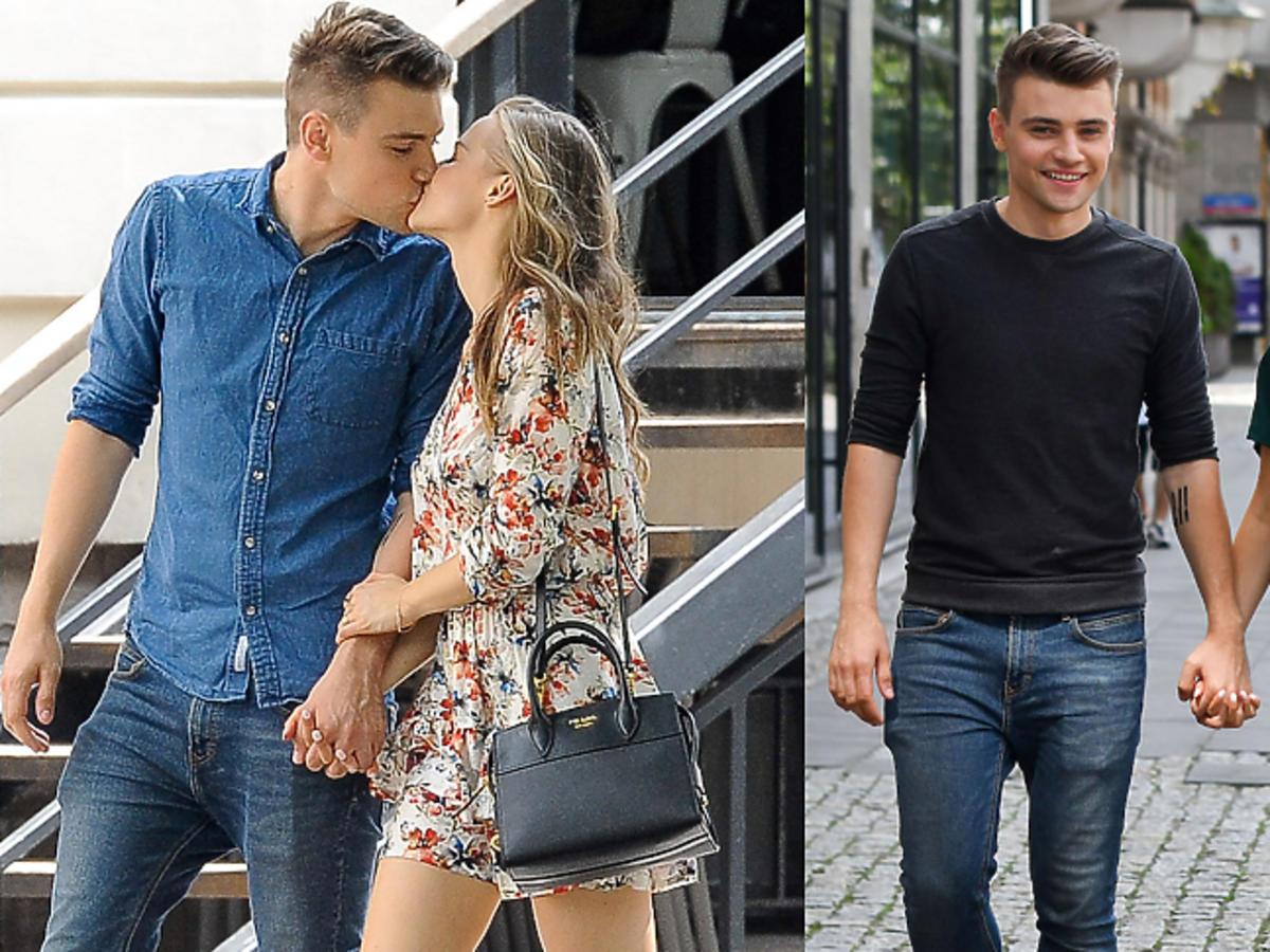 Damian Kordas i Karolina Pisarek całują się