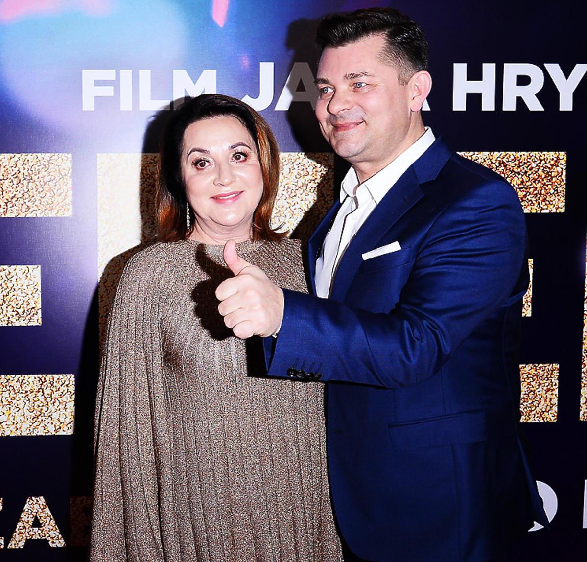 Danuta Martyniuk, Zenek Martyniuk na premierze filmu