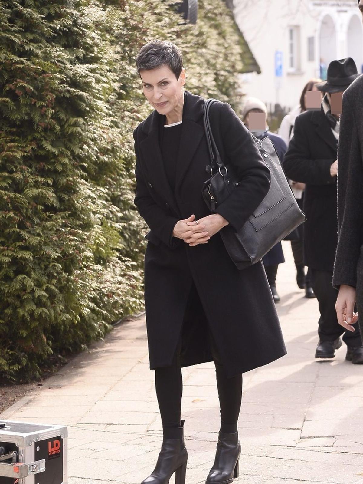 Danuta Stenka na pogrzebie Danuty Szaflarskiej