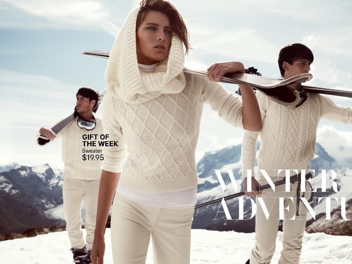 Daria Werbowy dla H&M zima 2013