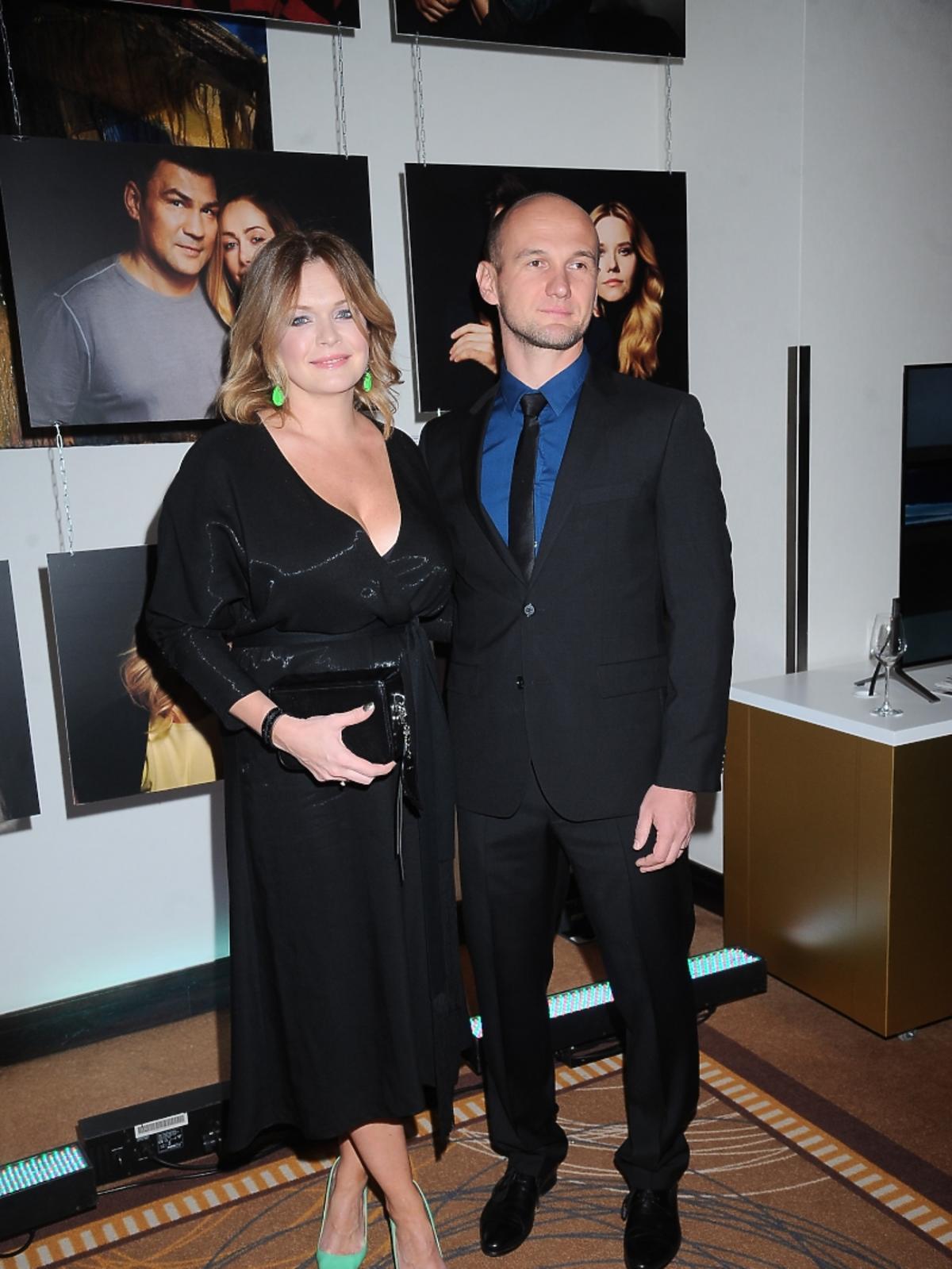 Daria Widawska z mężem na gali