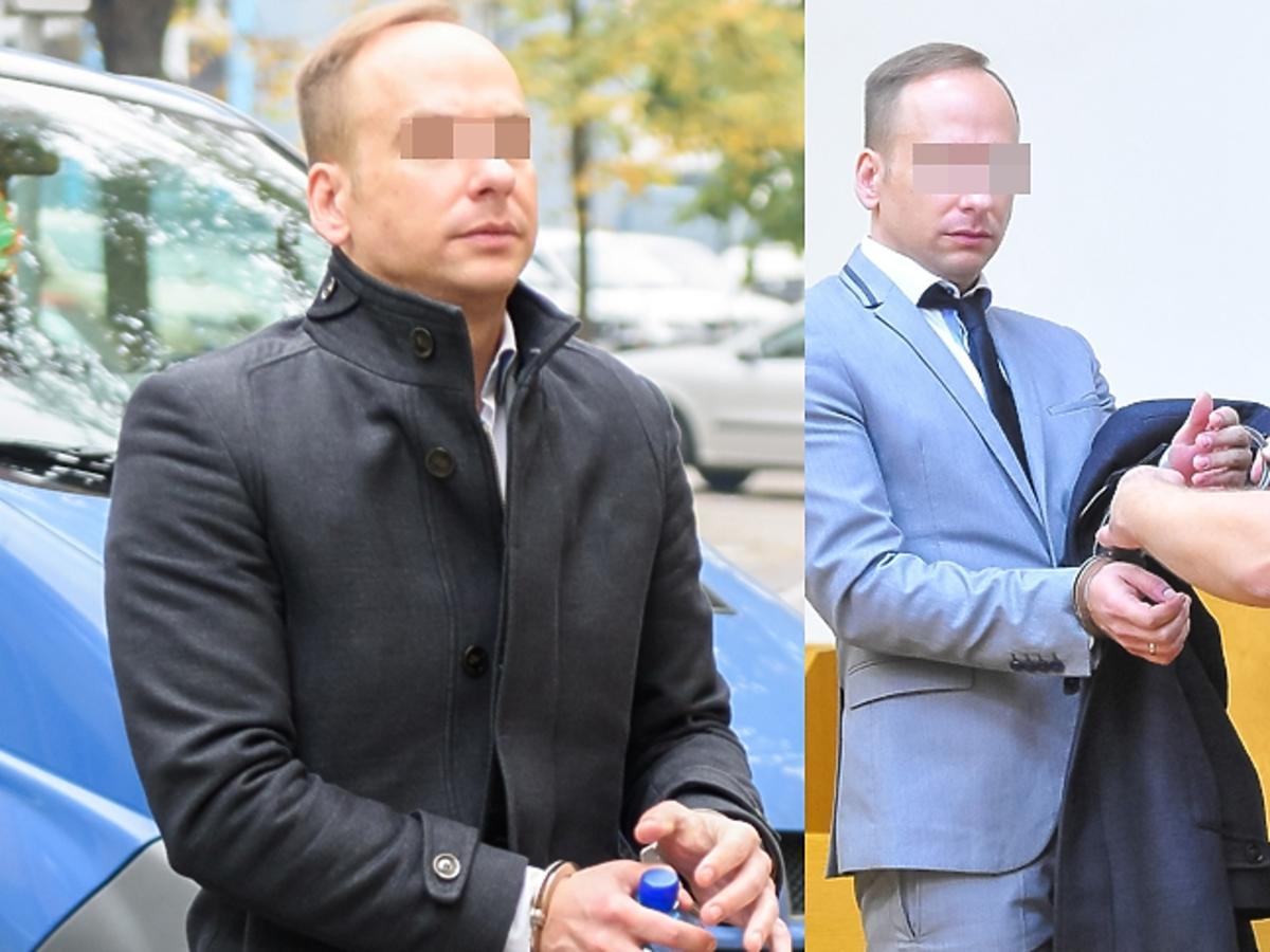 Dariusz K. na rozprawie sądowej