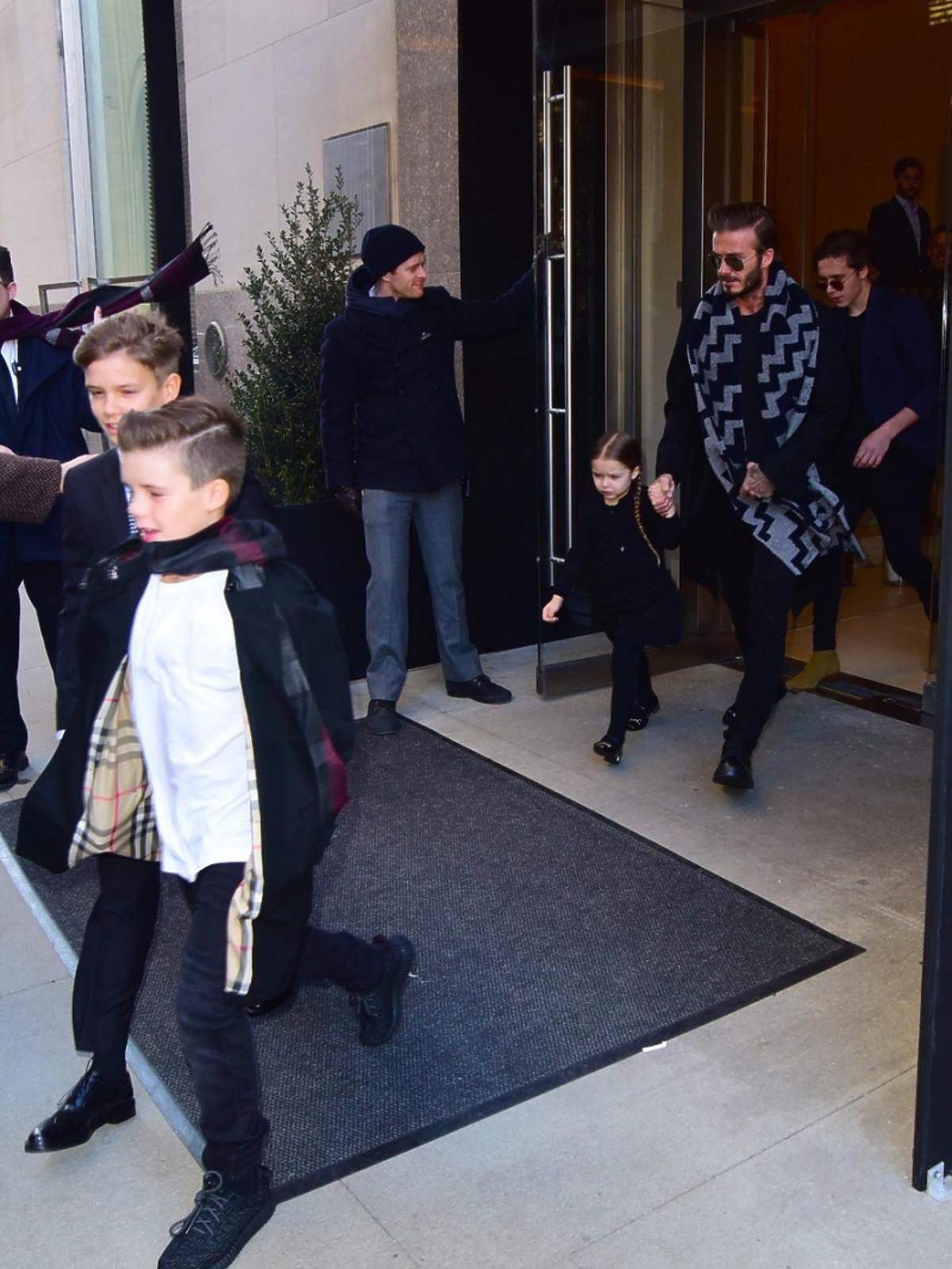 David Beckham  przed wejściem