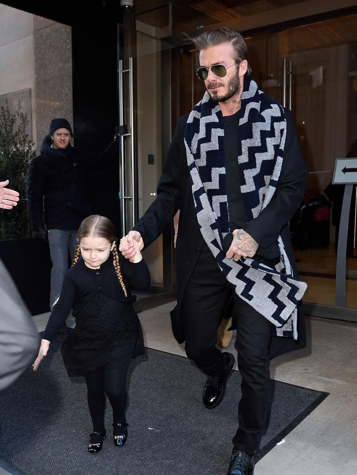 David Beckham w szaliku