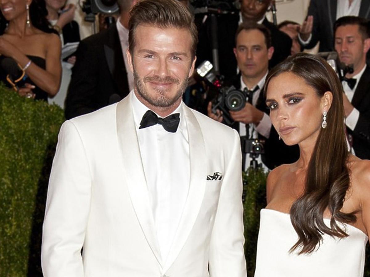 David Beckham z krótkimi włosami