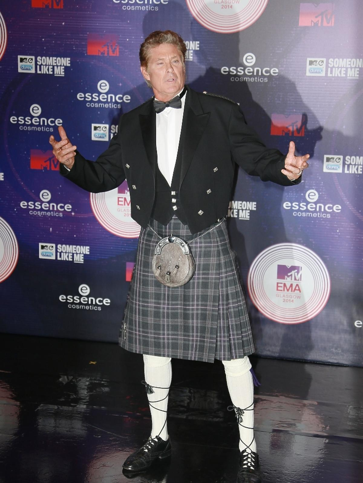David Hasselhoff na MTV EMA 2014 w Glasgow
