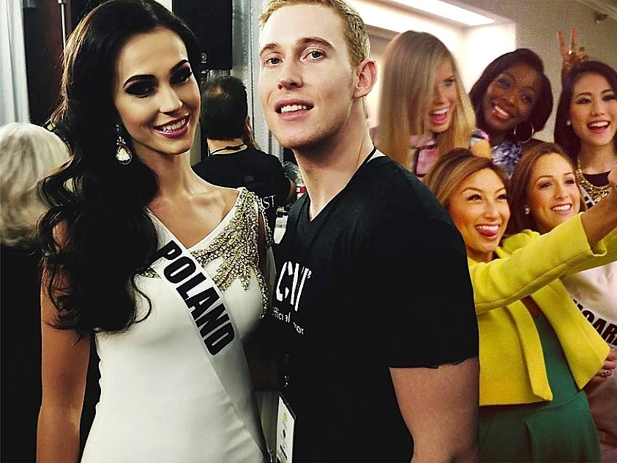 Dawid Bernat czesze na Miss Universe. Polak fryzjerem Miss Universe