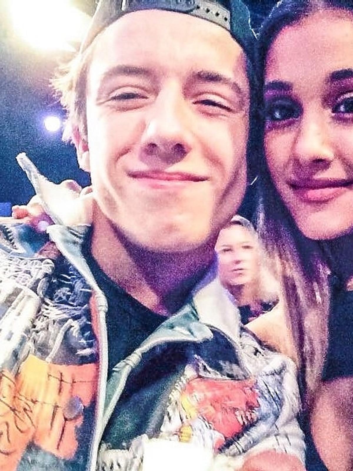 Dawid Kwiatkowski i Ariana Grande na MTV EMA 2014