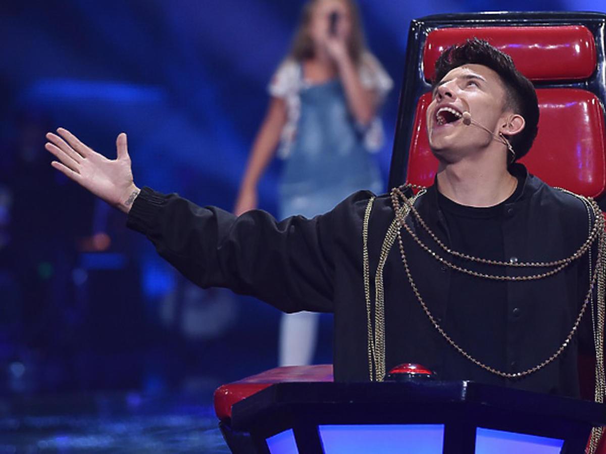 """Dawid Kwiatkowski na planie """"The Voice Kids"""""""