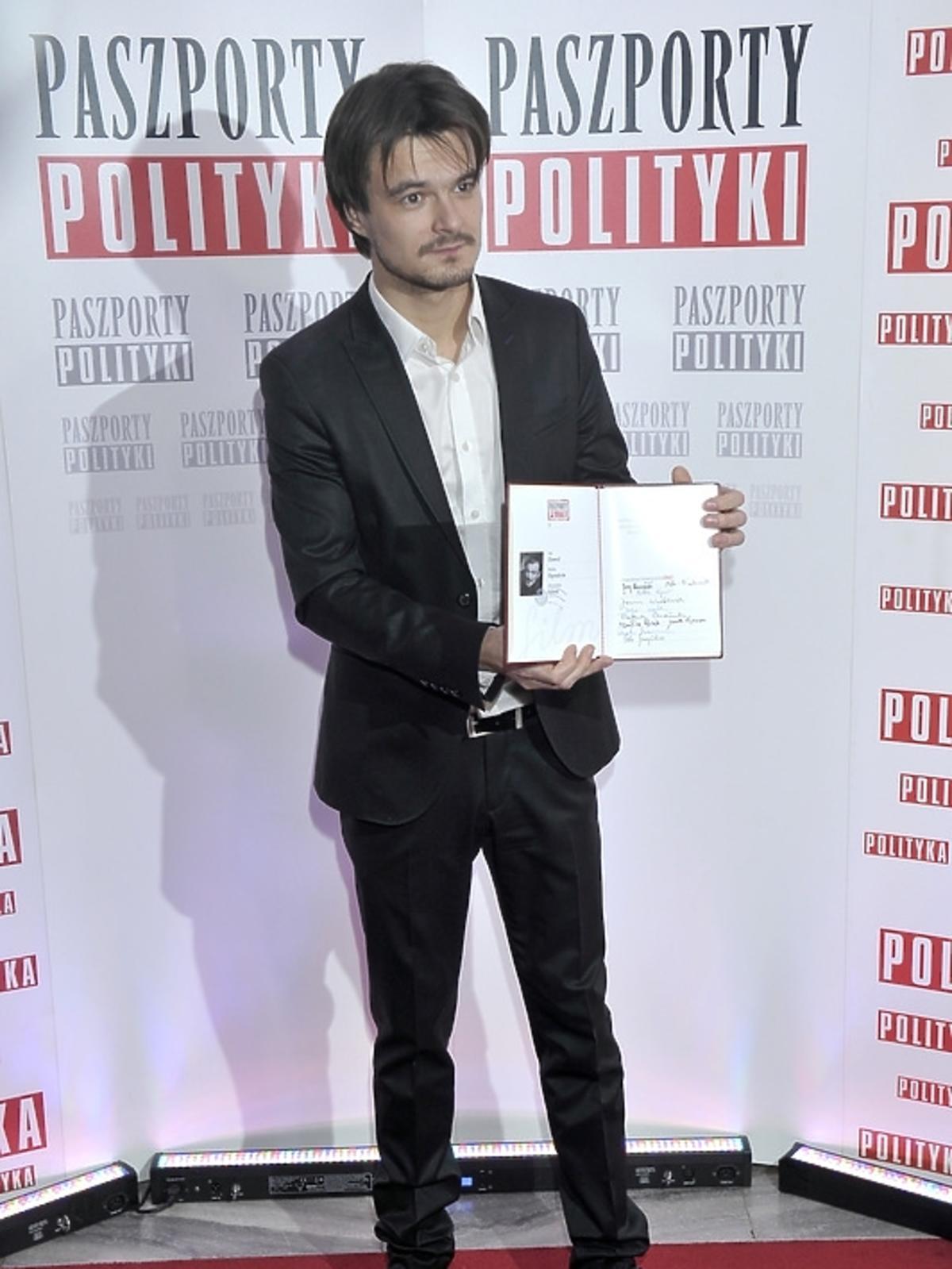 Dawid Ogrodnik na gali Paszporty Polityki 2014