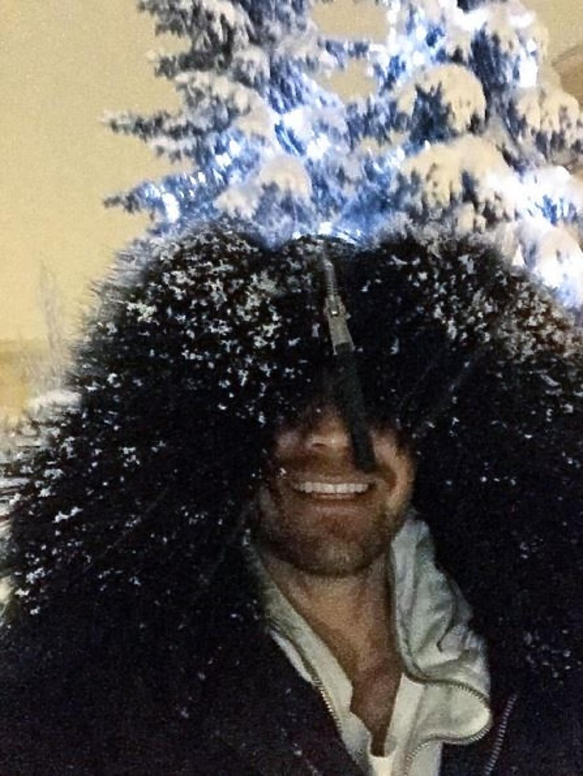 Dawid Woliński cieszy się że spadł śnieg
