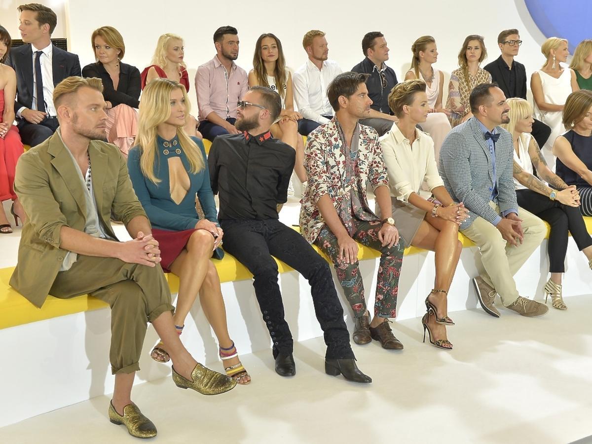 Dawid Woliński, Joanna Krupa, Michał Piróg, Marcin Tyszka i Katarzyna Sokołowska podczas prezentacji jesiennej ramówki TVN