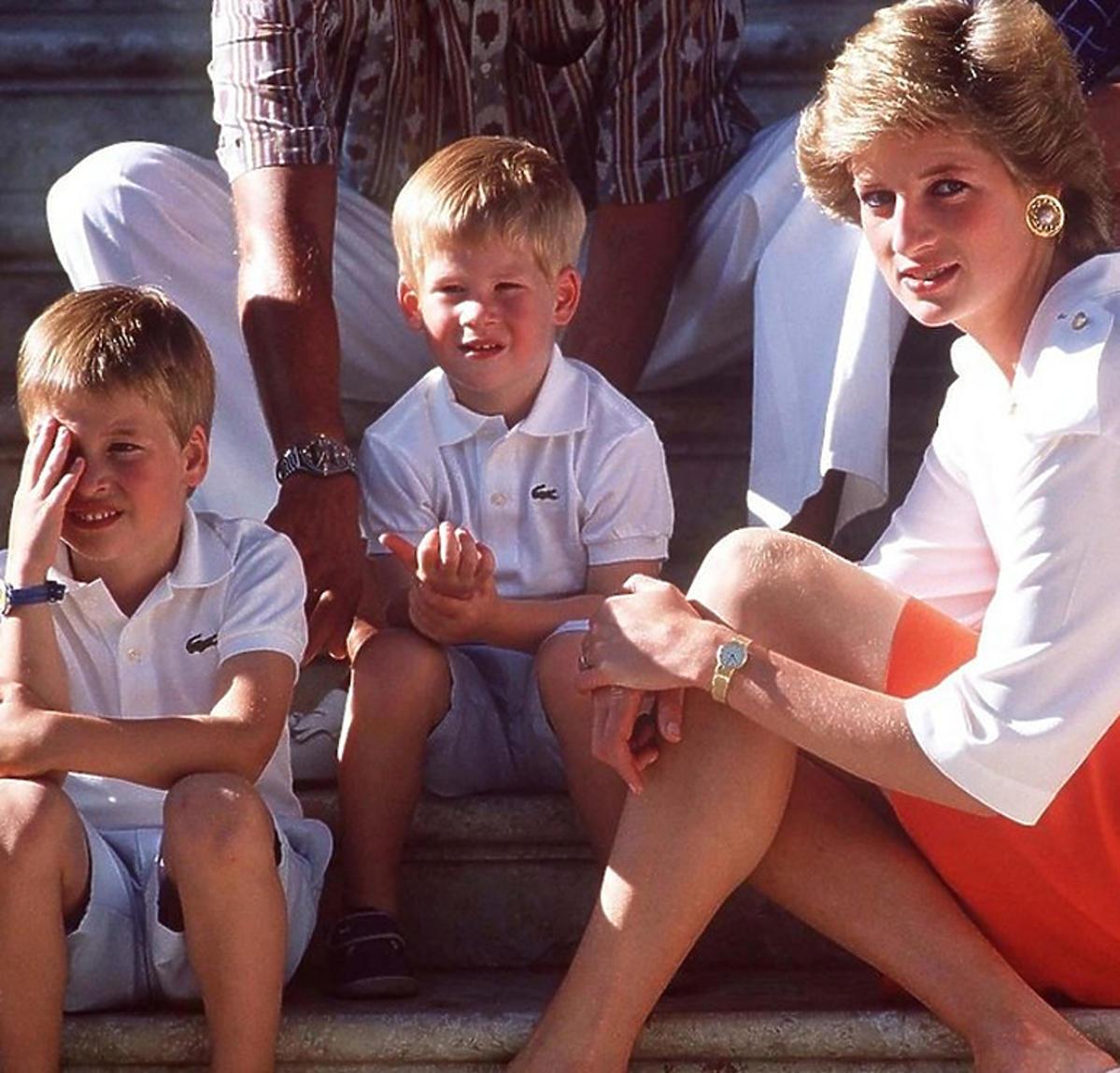 Diana, Harry i William