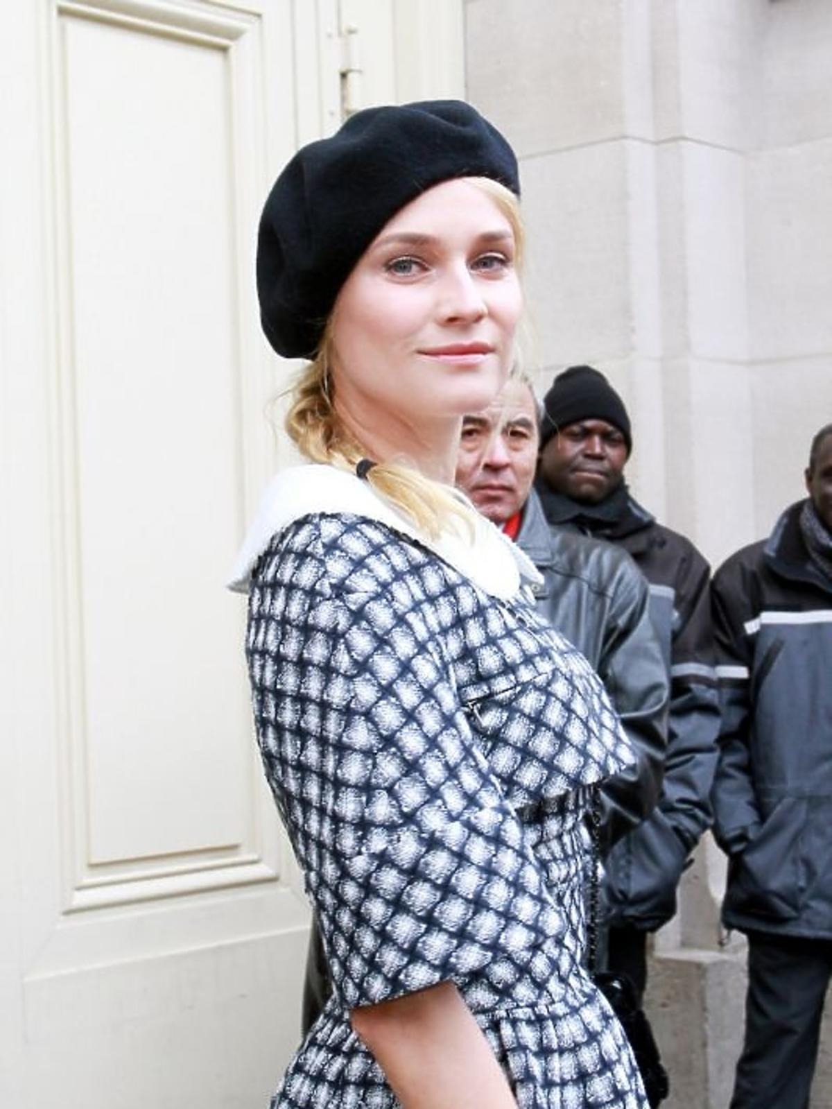 Diane Kruger na pokazie Chanel Haute Couture wiosna/lato 2013