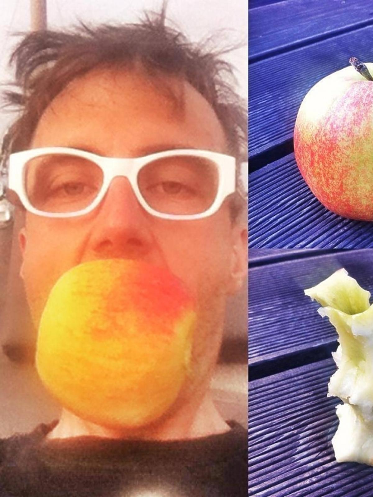 DJ Adamus zachęca do jedzenia jabłek