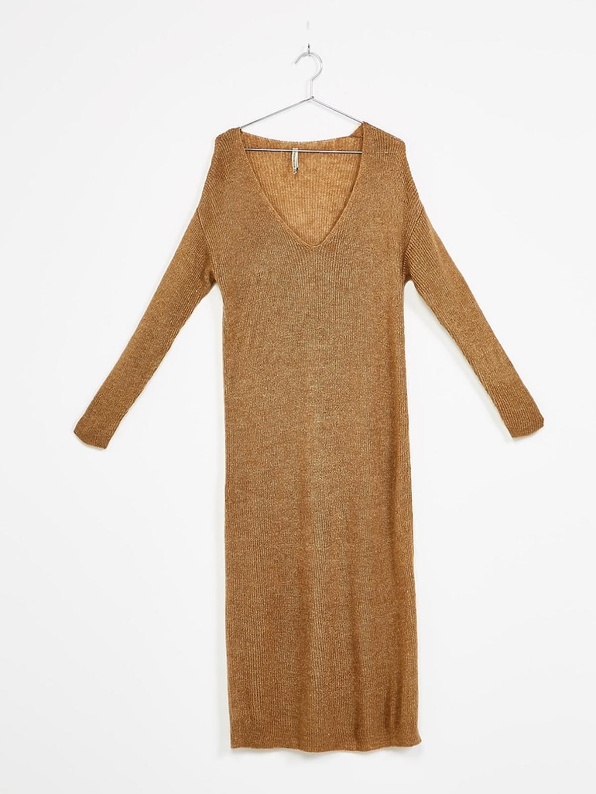 Długa sukienka z dzianiny, Bershka, 99,90 zł