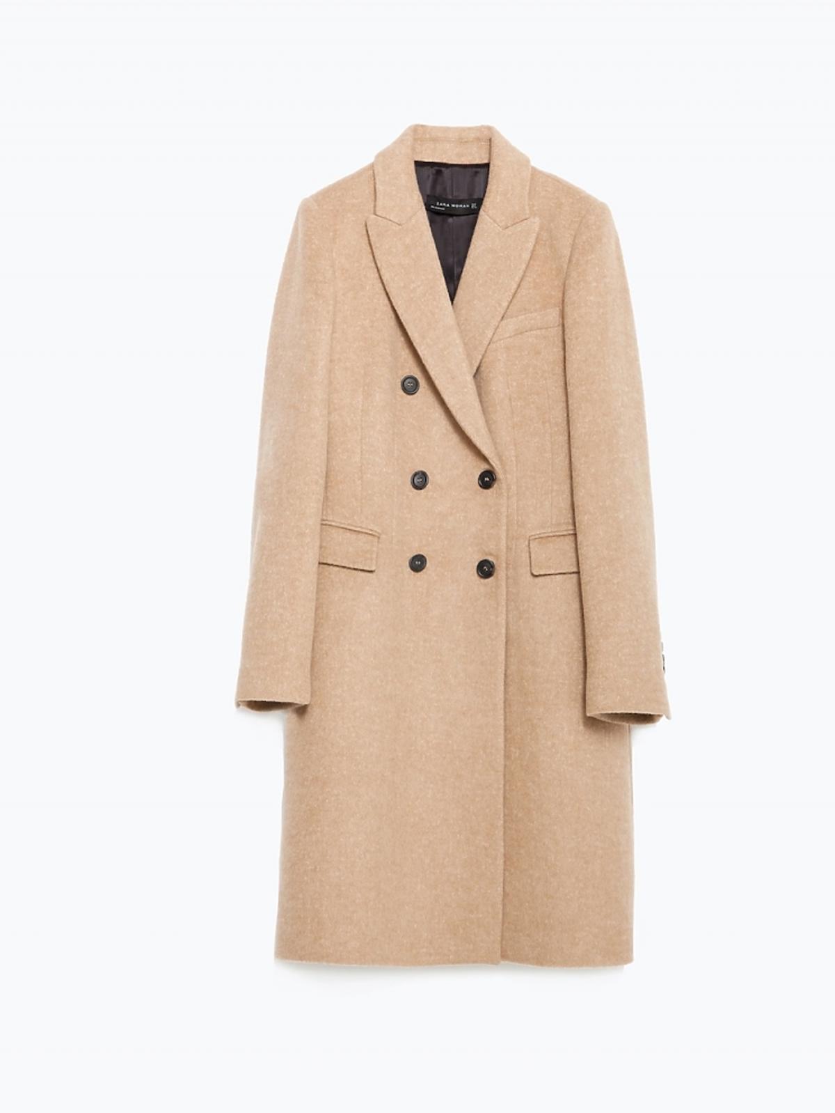 Klasyczny wełniany płaszcz, 299 zł (było: 459 zł)