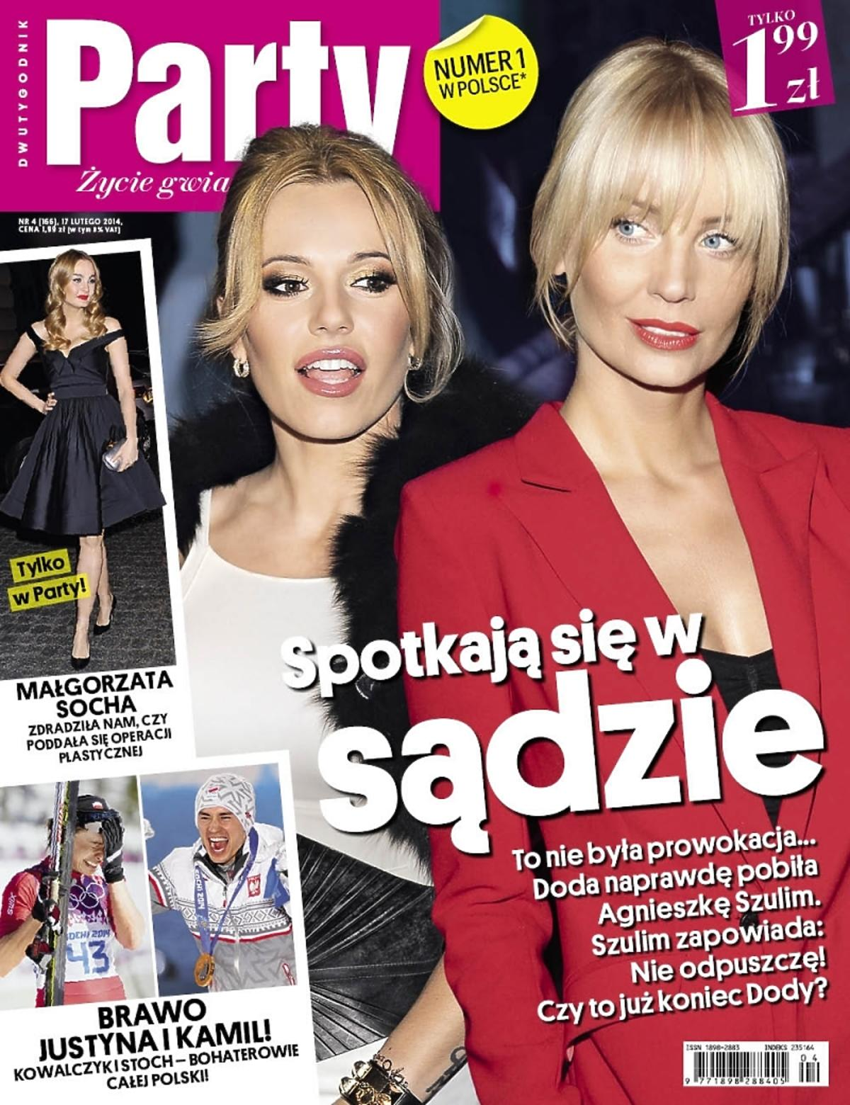 Doda i Agnieszka Szulim na okładce Party