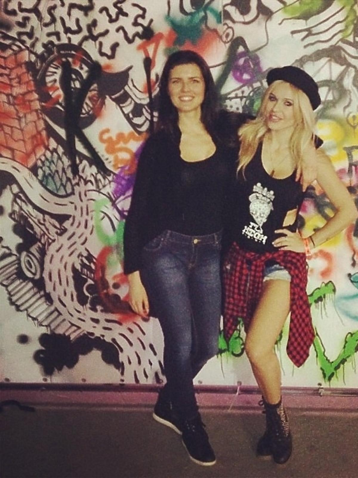 Doda i Małgorzata Leitner na koncercie Aerosmith