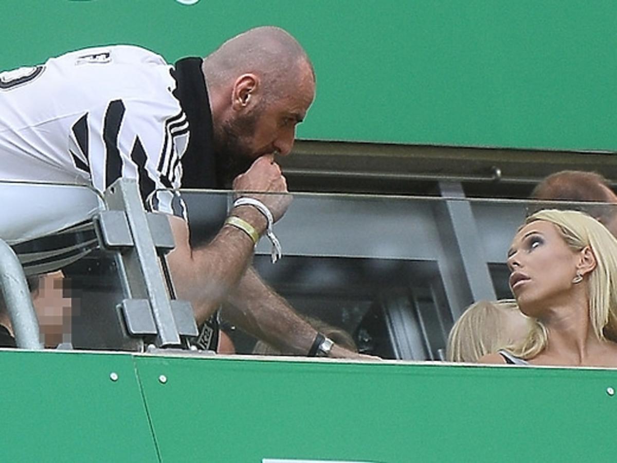 Doda i Marcin Gortat na meczu Juventus Turyn-Lechia Gdańsk