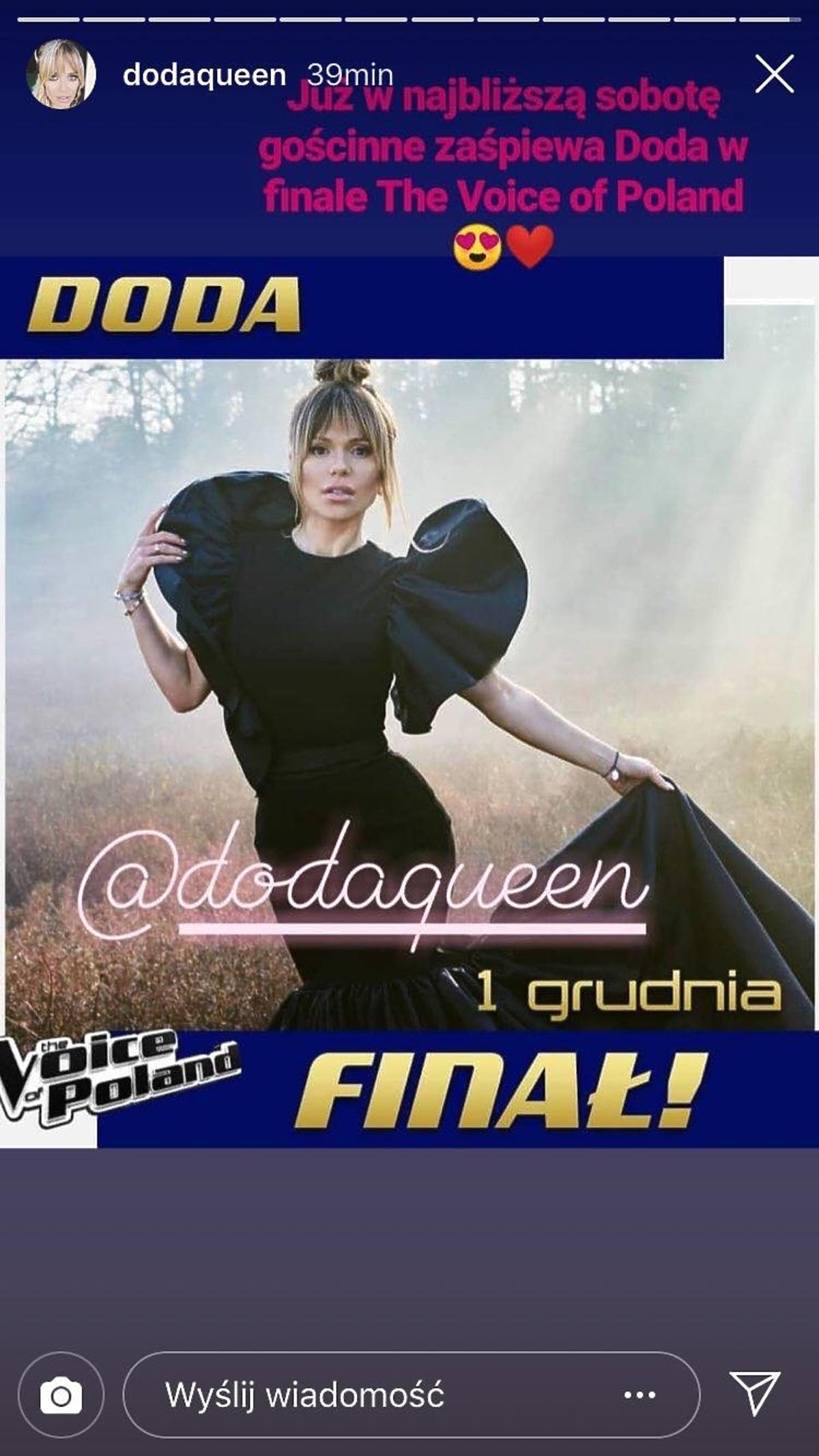 Doda w finale The Voice of Poland