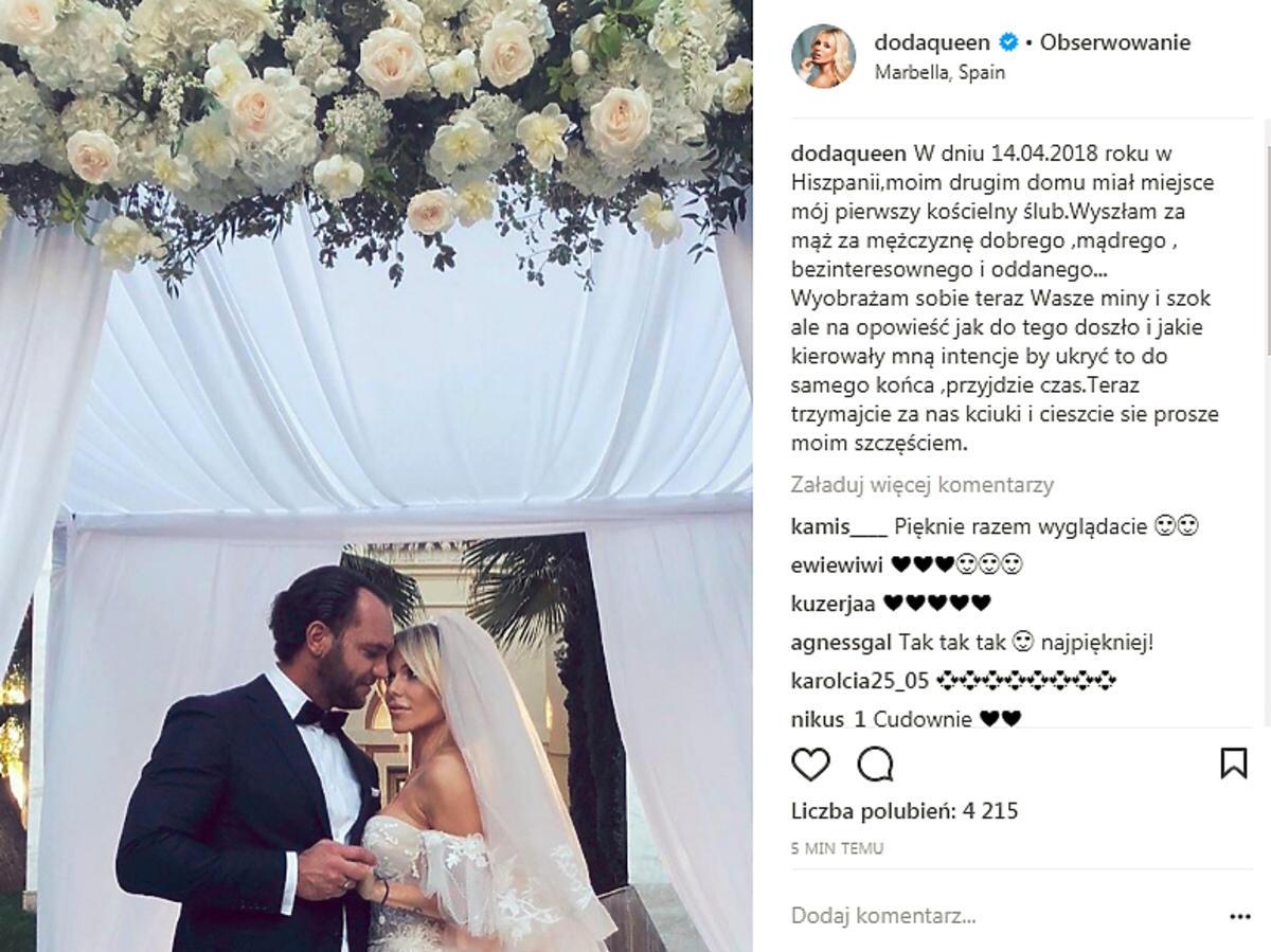 Doda wzięła ślub