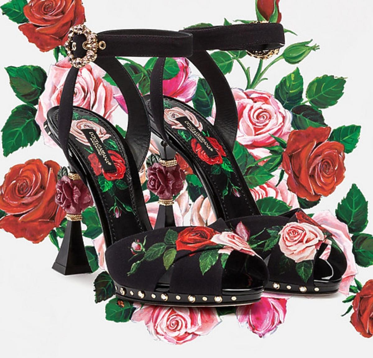 Dolce & Gabbana buty kolekcja wiosnalato 2019 flovers mix