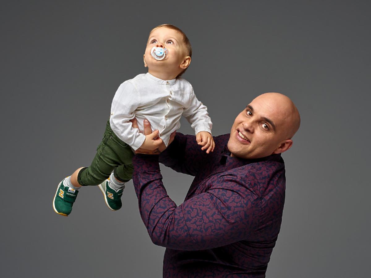 Dominik z synem z