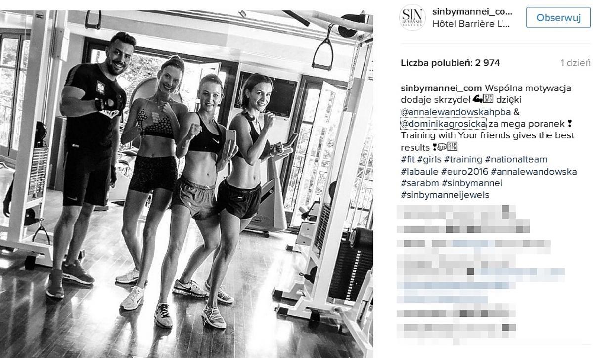 Dominika Grosicka, Anna Lewandowska, Sara Boruc