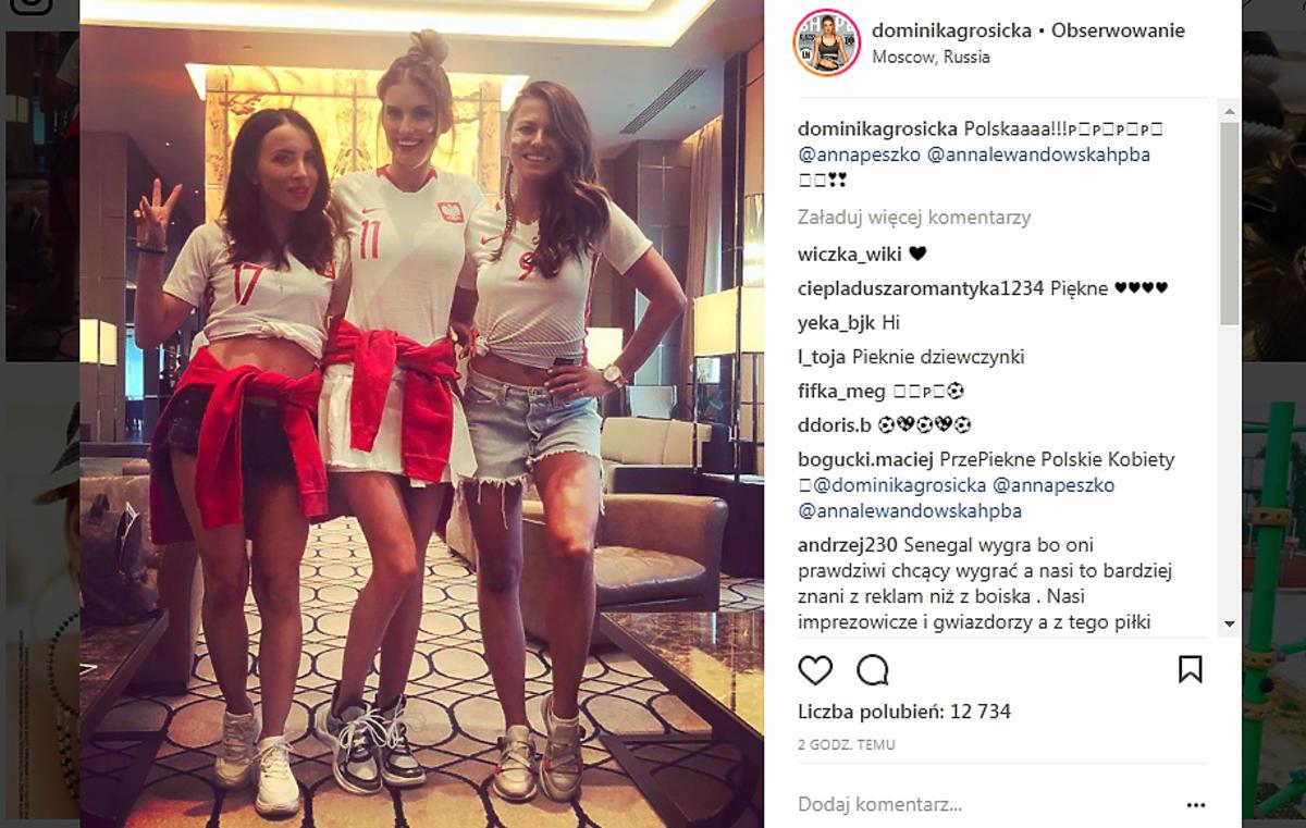 Dominika Grosicka, Anna Peszko, Anna Lewandowska wspierają Polskę