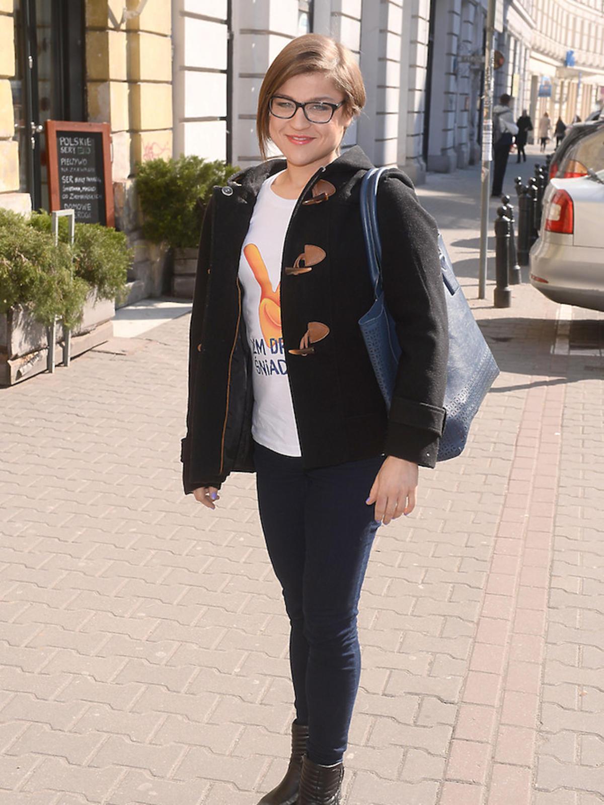 Dominika Gwit chuda w czarnej skórze 2015