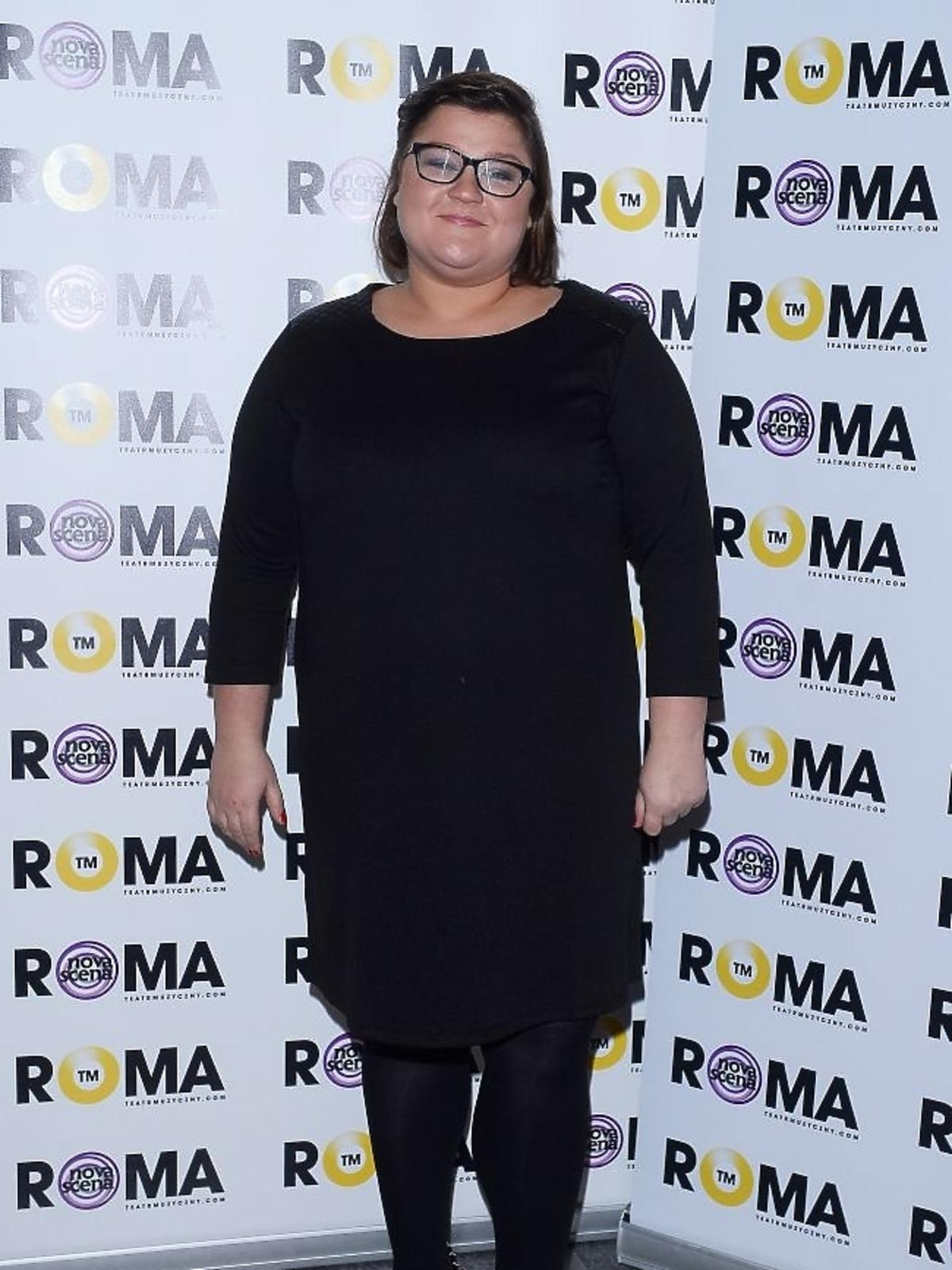Dominika Gwit na premierze spektaklu