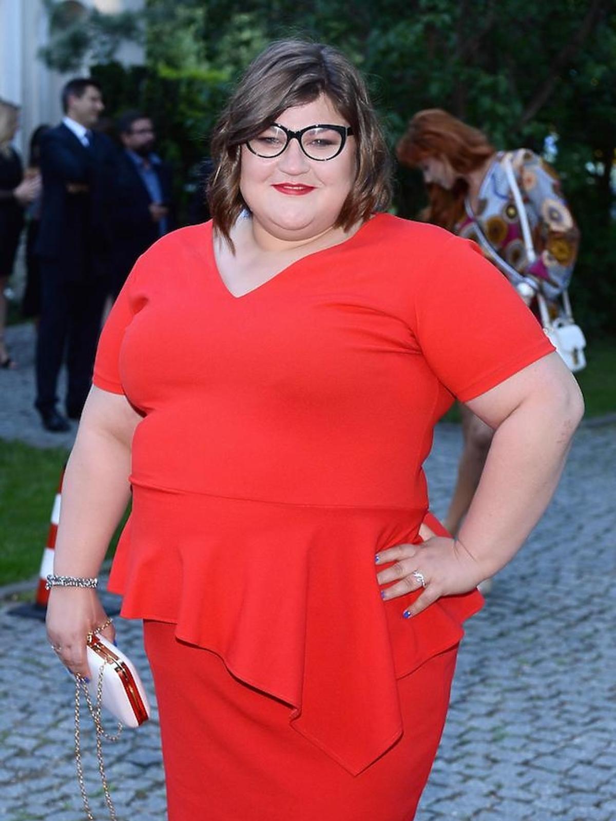 Dominika Gwit w czerwonej sukience 2018