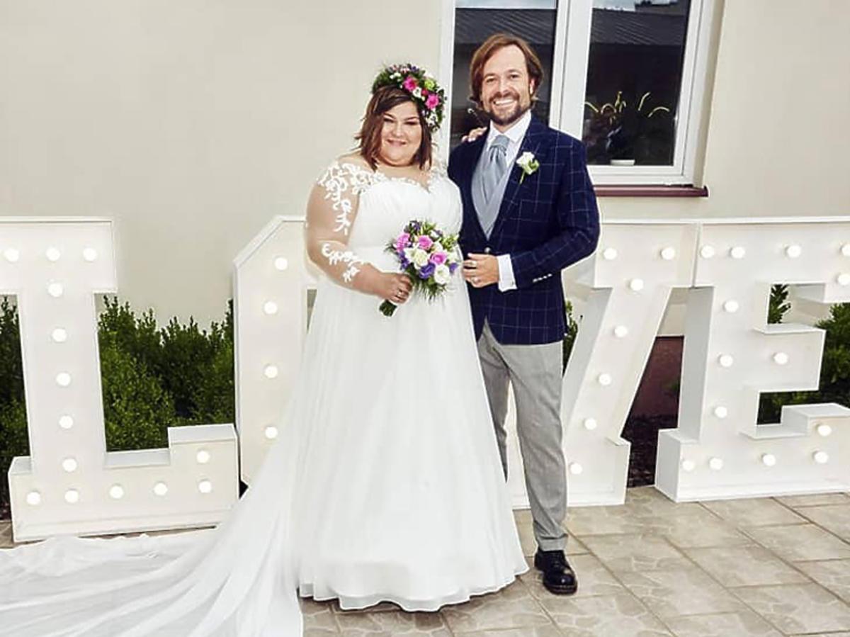 Dominika Gwit w sukni ślubnej