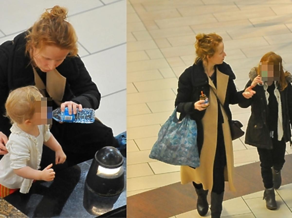 Dominika Kluźniak z partnerem i córkami na zakupach