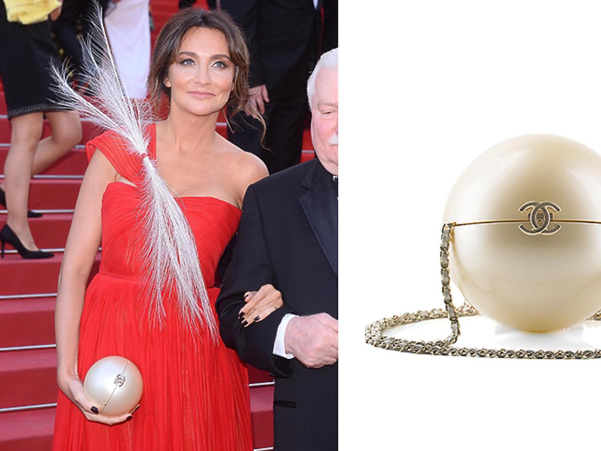 Dominika Kulczyk i Lech Wałęsa w Cannes, Minaudiere Chanel, 77 300 zł