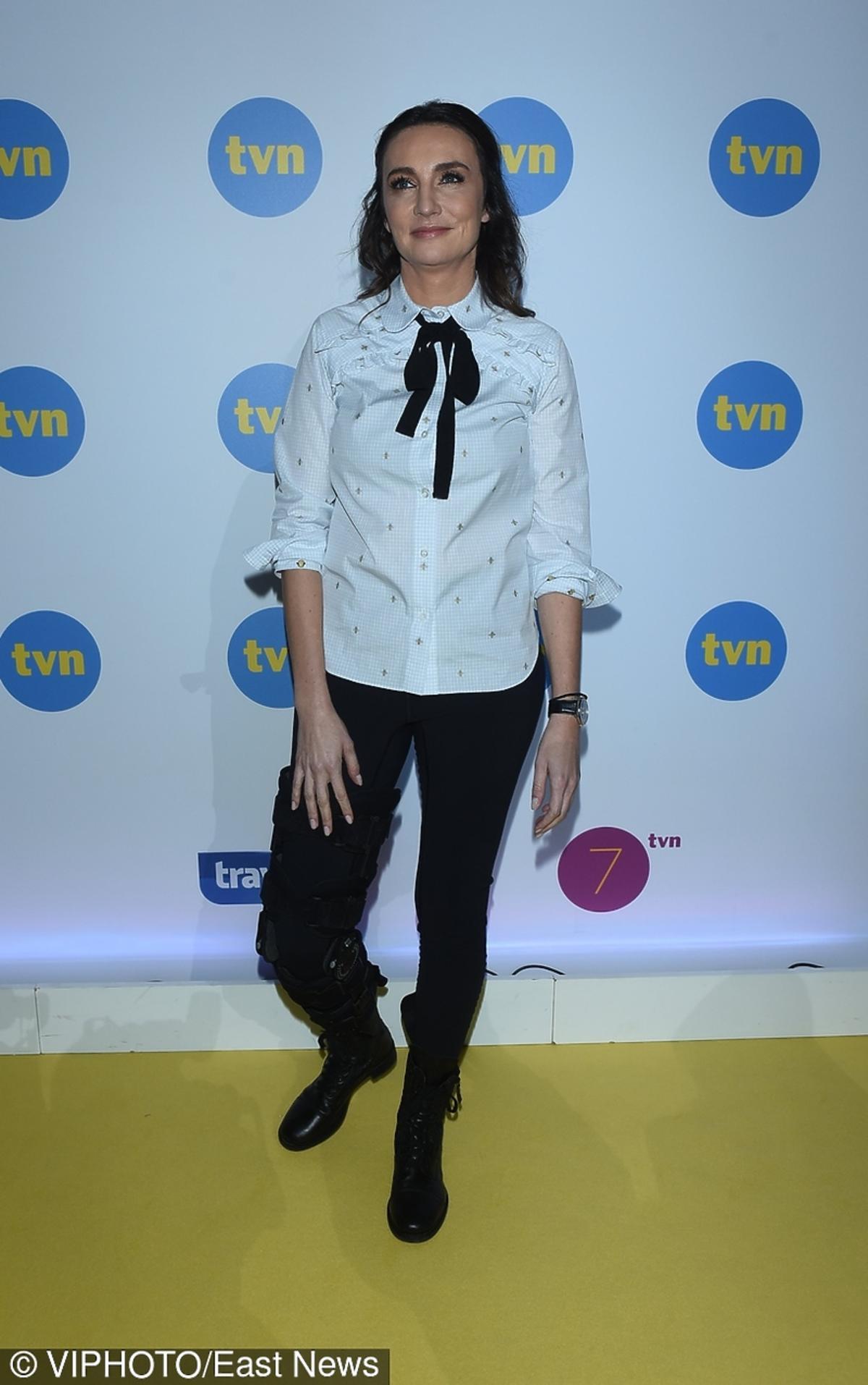 Dominika Kulczyk na prezentacji wiosennej ramówki TVN