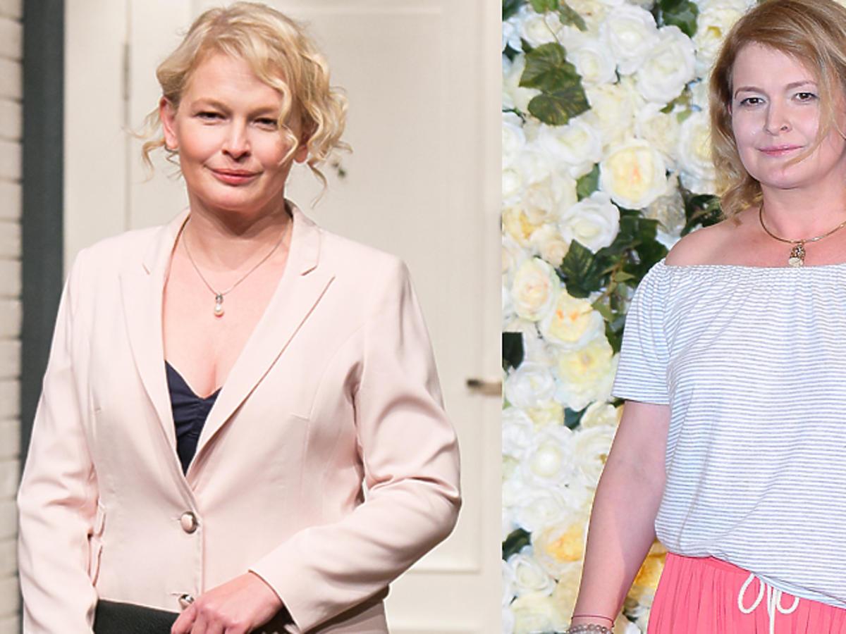 Dominika Ostałowska w różowej spódnicy