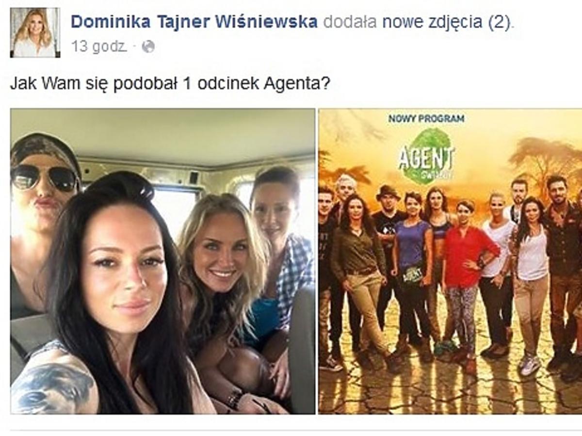 Dominika Tajner pokazała zdjęcia z planu Agenta