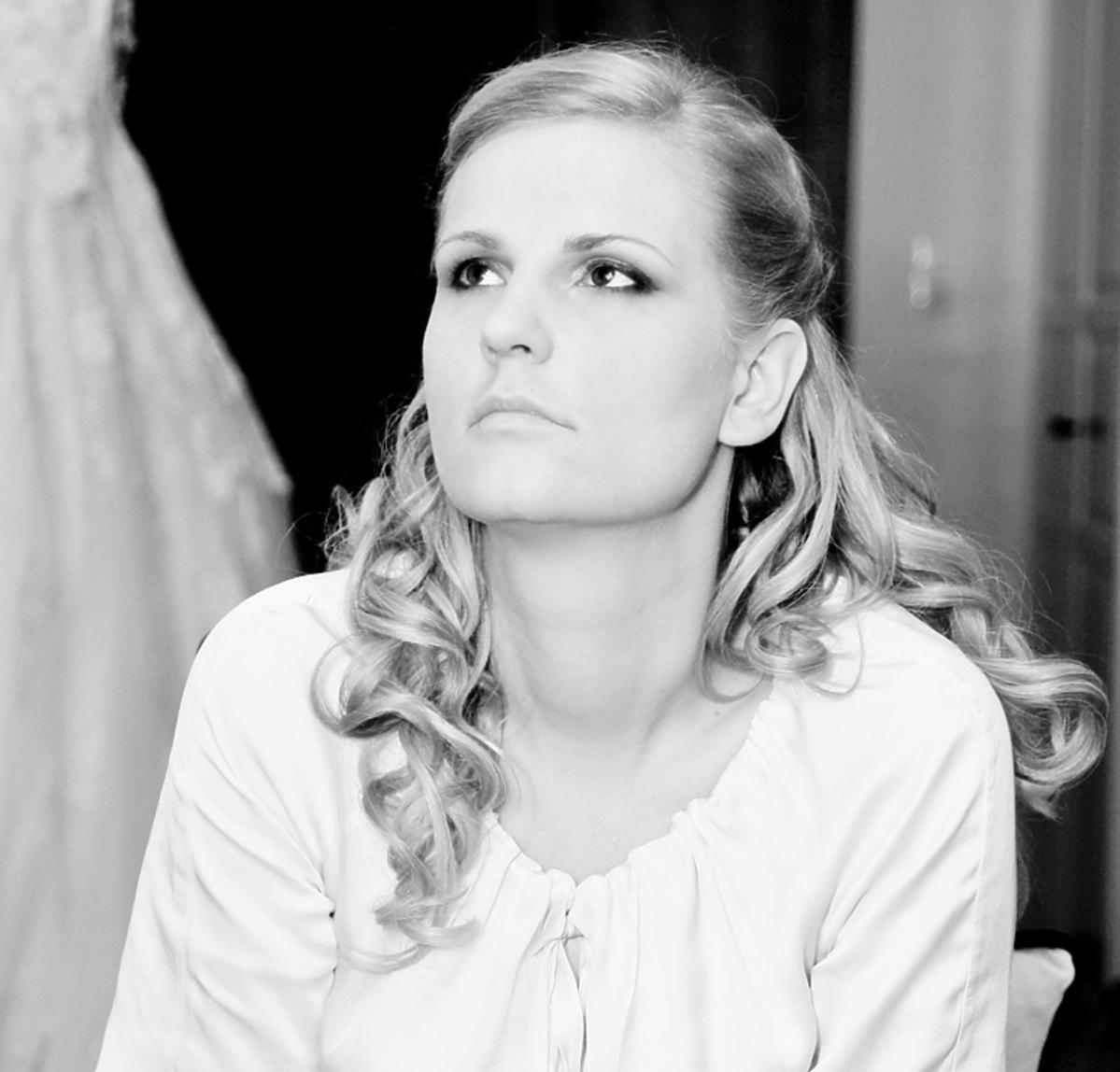 Dominika Tajner-Wiśniewska, portret czarno-biały